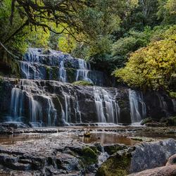 Purakaunui Falls, Nieuw Zeeland