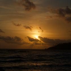 Zonsondergang zuid Sri Lanka