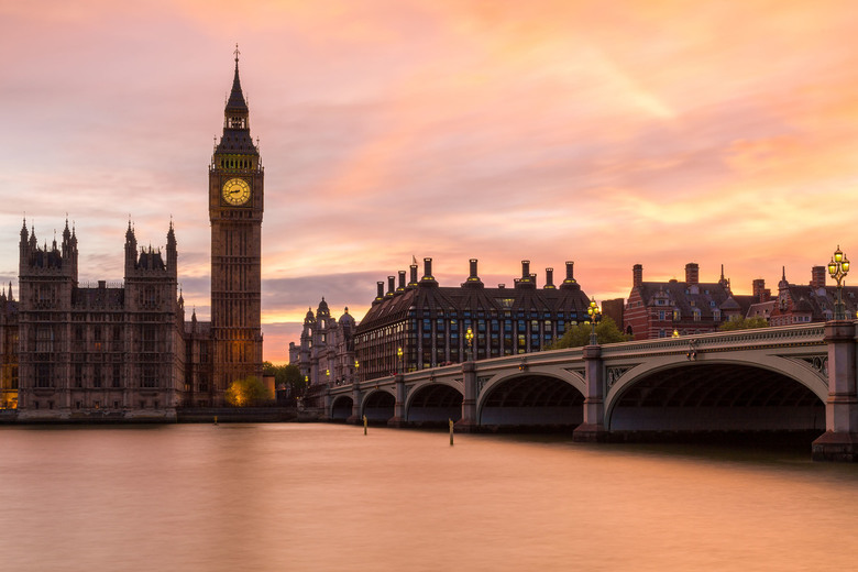 Sunset Big Ben - London -