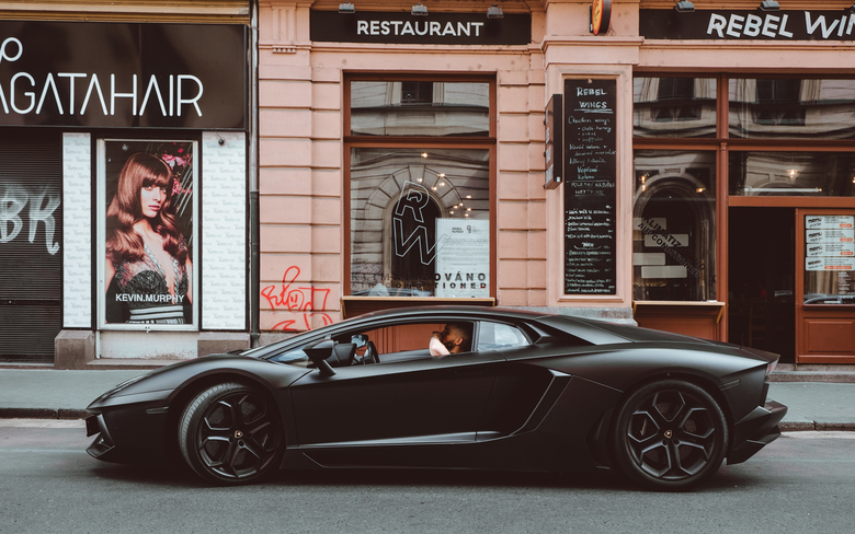Lamborghini Aventador - Lamborghini Aventador in Praag.