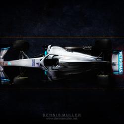 Mercedes AMG F1 W10 Q POWER+