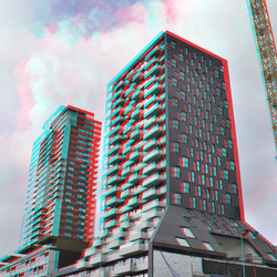 The Muse Wijnhaven Rotterdam 3D anaglyph