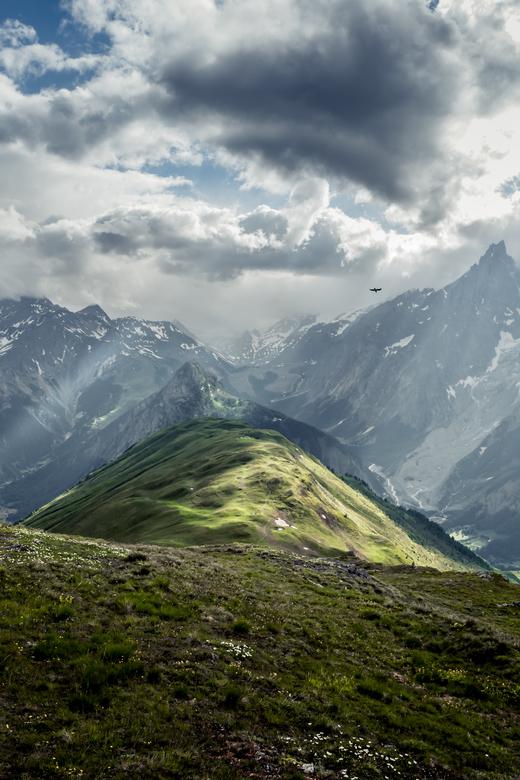 Tête de la Tronche - Zicht vanop Tête de la Tronche.<br /> Net boven Rifugio Bertone.<br /> Een must do als je de Tour Du Mont Blanc doet.