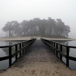 Henschotermeer in de mist