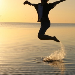 Springen in het water