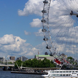 Londen eye en theems