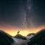 Damhert onder de sterren (Melkweg)