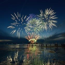 vuurwerkshow op Scheveningen