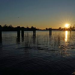 Hollandse IJssel Ondergaande Zon
