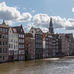 Amsterdam Damrak achterkant Warmoesstraat