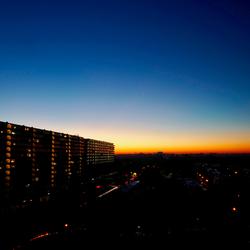 sunset over Utrecht