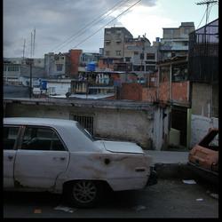 Sloppenwijk in Caracas (Venezuela)