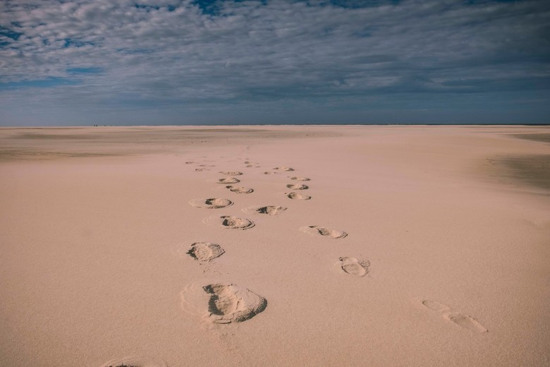 Footprints in the sand -