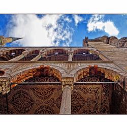 Detail blauwe moskee