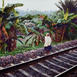 All alone on the train rail