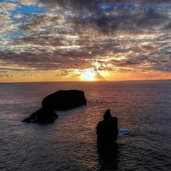 droneshot sunset azoren