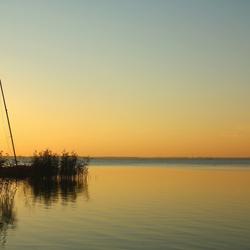 zonsondergang bij het Veluwe meer
