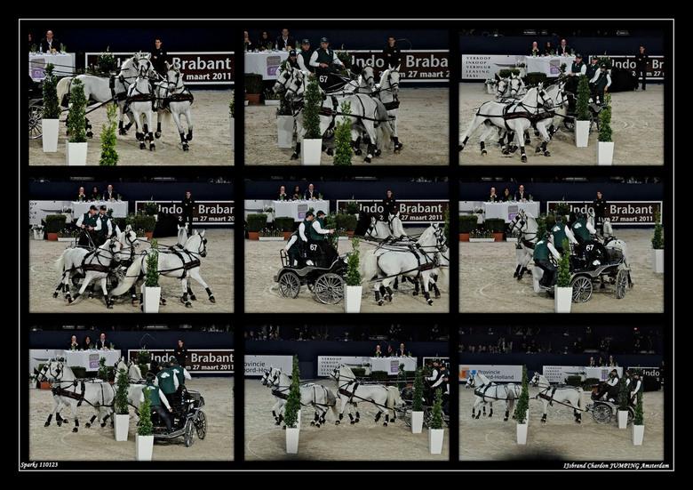 Jumping Amsterdam 2 - IJsbrand Chardon gaf een demonstratie, inderukwekkend. hoe krijg je het voor elkaar om de paarden zo te sturen dat ze doen wat j