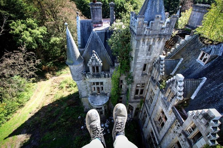 Verlaten kasteel.  -