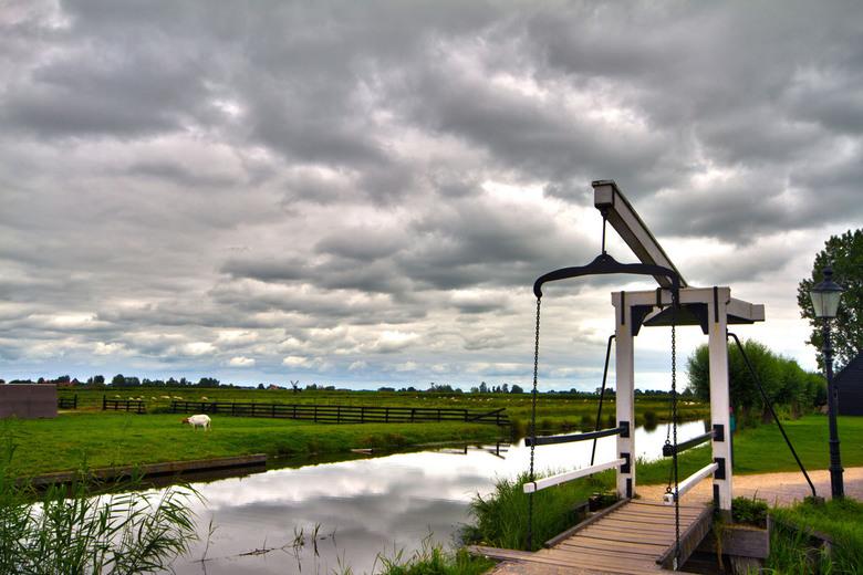 Polder Zaanse Schans - Zicht op de polder vanuit de Zaanse Schans