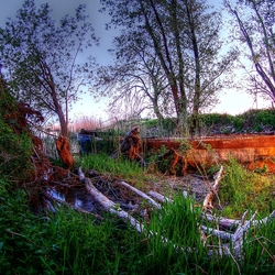 HDR Roestige boot