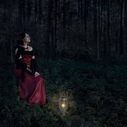 in de nacht