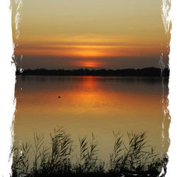 zonsondergang plassen