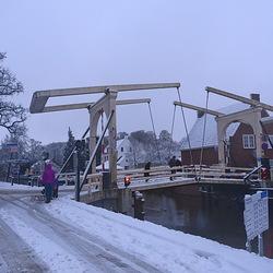toch nog een laagje sneeuw in Breukelen