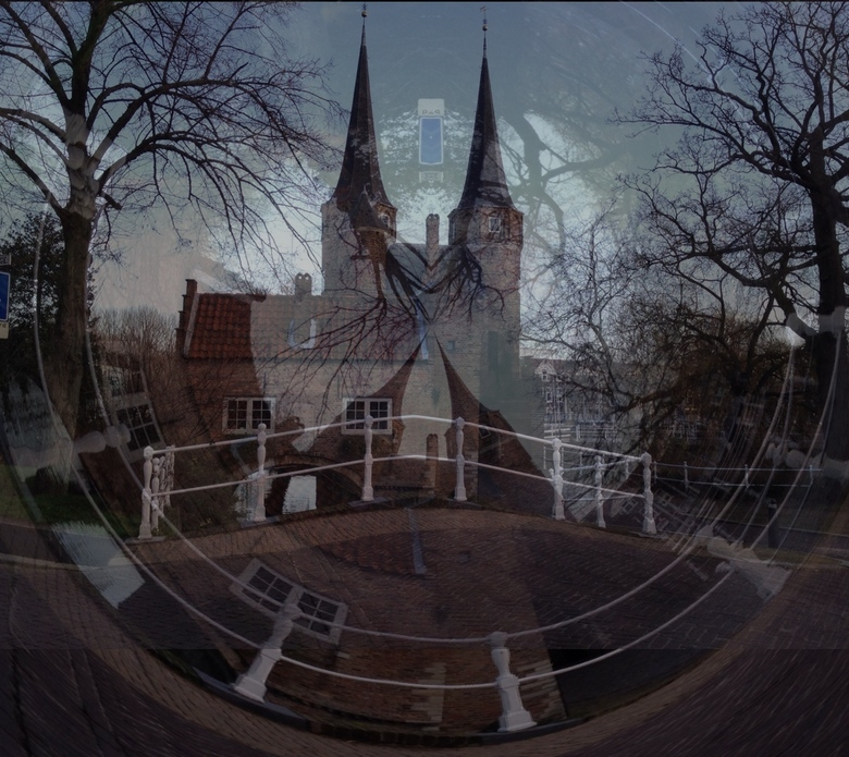 De poort in Delft