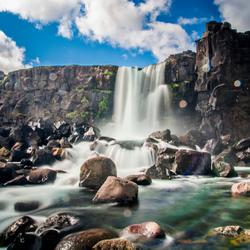Oxararfoss waterval IJsland - lange sluitertijd