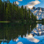 Zonsondergang bij Two Jack Lake - Canada