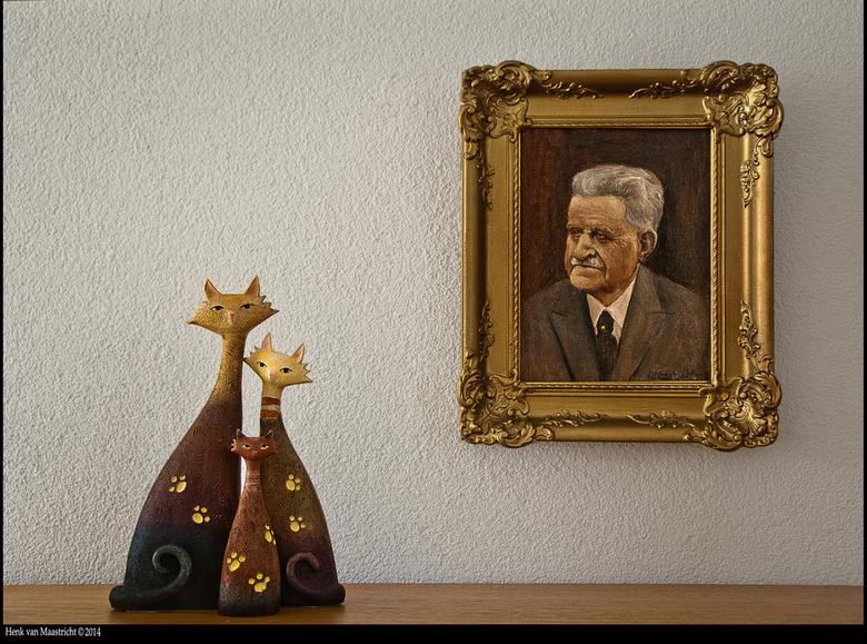 Opa de Wit - De opa van mijn moeder geschilderd door mijn vader.