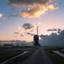Windmolen en Nederlandse wolken