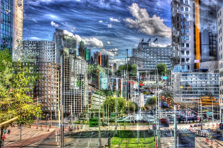 Fail - Op een zomerse dag in 2012 probeerde ik een HDR-foto te schieten vanaf de luchtsingel bij het Hofplein. Doordat ik op dat moment niet in bezit