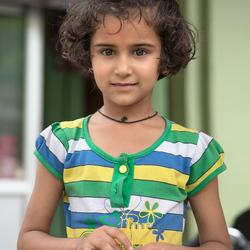 meisje in India