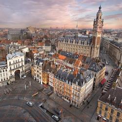 Uitzicht over Lille