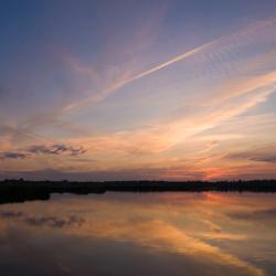 Zonsondergang in het Ilperveld