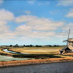 Bij molen Het Noorden op Texel