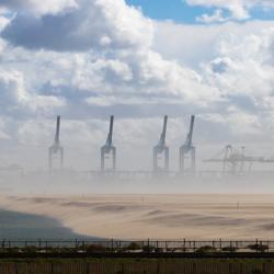 Zandstorm op de Maasvlakte