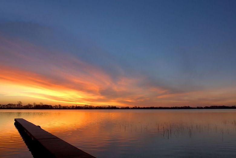 Zonsopgang bij het Nannewiid. - Vanmorgen vroeg al op pad gegaan in de hoop op een mooie zonsopgang. Dit is bij het Nannewiid.