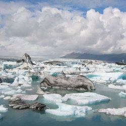 Het ijsbergmeertje Jökulsárlón