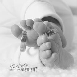 Sweet little baby feet
