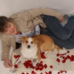 mijn vrouw met hond