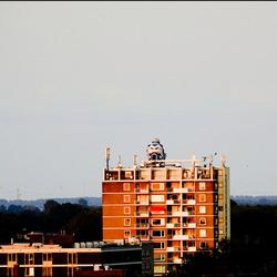 gigantische stunt boven Groningen.........