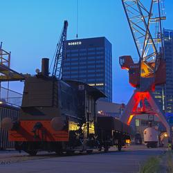 Oude lokomotief museumhaven Rotterdam