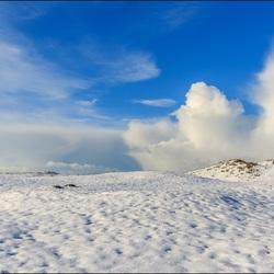 Sneeuw in de duinen.