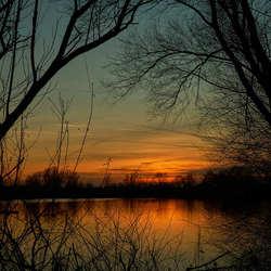 Ijssel sunset