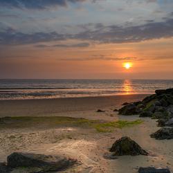 Zonsondergang op de Brouwersdam