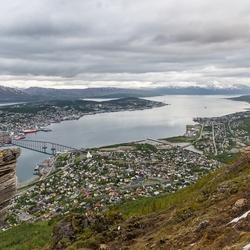 Gezicht op Tromsö.