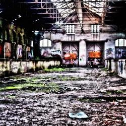Oude trein station